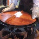 上海 焼き小籠包 - 最後に周りを焼きます