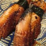 回し寿司 活 - 鰻の寿司、絶品!