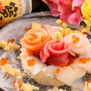 記念日やお誕生日に、デコレーションケーキならぬ『デコ寿司』を
