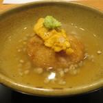 かま田 - 煮物 蓮根饅頭