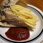 高崎屋本店 - フライドポテトとケンショー食品のイタリア産有機栽培トマトを使用したトマトケチャップ