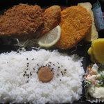 とんかつ小僧 - 料理写真:Aミックス弁当(ヒレかつ・コロッケ・イカフライ)