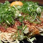 花たぬき - 牡蠣のたぬき焼(そば)