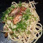 花たぬき - 牡蠣の焼うどん(醤油)