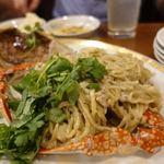 新香飯店 - ワタリガニの麺