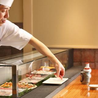 寿司職人のこだわり。