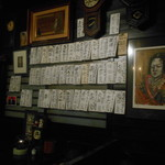 粥茶屋 写楽 - 2016.11:壁に日本酒のメニュー