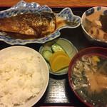 酒場三晴 - さば味噌煮定食750円