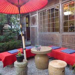 おぐら茶屋 - お庭の席