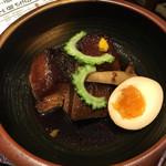 麹蔵 - 2016年11月16日 ラフティー定食900円+豚汁変更150円