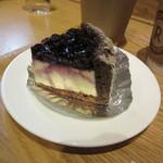楽天カフェ - 大粒ブルーベリーレアチーズケーキ 594円