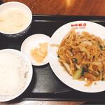 和平飯店 - 豚肉細切りと玉ねぎ炒め(600円)※通常780円【平成28年11月14日撮影】