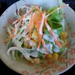 群馬名物 麦豚丼の上州亭 - 野菜サラダ(小鉢との100円追加セット分)