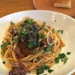 58897590 - 子羊と茄子のトマトソーススパゲッティ