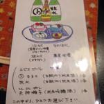 津右衛門 - 日本酒向けのアテ4品と日本酒1合のセット ¥1,200