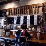 いわさき - いわさき @有楽町 おかあさんと店内お品書き