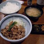 いわさき - いわさき @有楽町 豚しょうが焼定食 700円