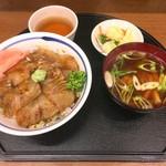 食堂どん - ヒラメのヅケ丼 1300円
