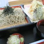 あき乃 - 野菜天ざる870円