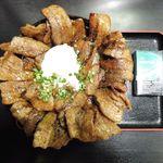 58908996 - メガしびれ豚丼(大盛・半熟玉子)1,000円