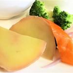 プカ オーガニクス - 温野菜のバーニャカウダソース