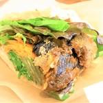 プカ オーガニクス - この日は茄子カツの赤味噌タレとインゲンの胡麻和え