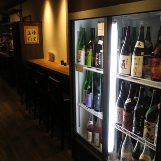 日本酒がズラリと40種以上