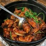 雞煲 - 料理写真:乾雞煲(半隻)