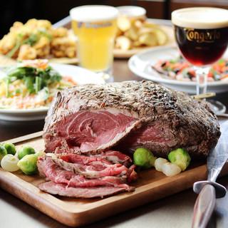 豊富なお肉料理とベルギービールのコラボが◎