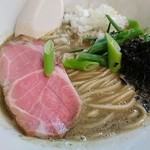 麺処 晴 - 濃厚そば(鯵伊吹背黒2種) 780円