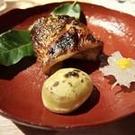 58918159 - ■焼肴:カマス 柚庵焼、栗・大根