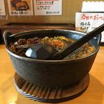 58919653 - 黒胡麻坦々麺、きくらげ、ワンタントッピング