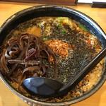 58919667 - 黒胡麻坦々麺、きくらげ、ワンタントッピング