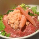 ローストキッチン - ずわい蟹&黒毛和牛の小丼