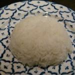 バンコクガーデン - [料理] ライス (察するにタイ米) 全景♪w