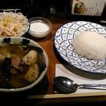 バンコクガーデン - [料理] ゲンキオワーンガイ (鶏肉のグリーンカレー)¥950 ランチセット全景♪w