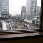 スターバックス・コーヒー - 4F窓の風景「JR秋葉原 駅前広場」