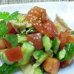 杏仁坊 - たたきキュウリとトマト