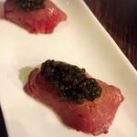 58952590 - 肉寿司キャビアのせ ウニのせ食べたかった…
