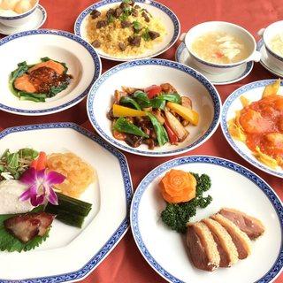 大満足の本格中華料理コース
