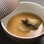 佐賀牛 Sagaya - 唐津産アワビのフラン 渡り蟹のソース