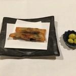 亀の井別荘 - 椎茸の春巻・炒り銀杏