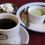 マ・メゾン - コーヒー&デザート(コーヒーに添えられたホイップクリームがとても美味しかった。 (^^ゞ