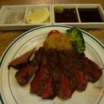 肉バル銀次郎 - 近江牛ラムシンステーキ100g