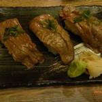 肉バル銀次郎 - 近江牛炙りにぎり