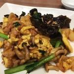 口福吉祥 喜喜龍 - 豚肉と卵、きくらげの醤油炒め