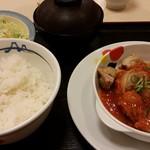 松屋 - 鶏のチリソース定食630円→スマホクーポンで590円