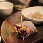 寿し さがみや - お通し3品のうちの1つ ツブ貝