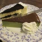 58964093 - オレオチーズと&抹茶チーズのハーフ&ハーフ