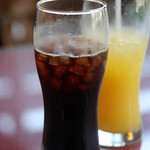 モッチモパスタ - アイスコーヒー、オレンジジュース